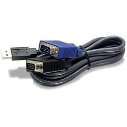 Trendnet - TK-CU15 cable para video, teclado y ratón (kvm) 4,5 m Negro