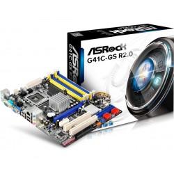 Asrock - G41C-GS R2.0 LGA 775 (Socket T) Intel® G41 Micro ATX