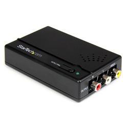 StarTech.com - Adaptador Conversor Escalador HDMI a Vídeo Compuesto RCA Audio Estéreo - Convertidor NTSC PAL