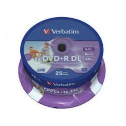 Verbatim - DVD+R Double Layer Inkjet Printable 8x 8.5GB DVD+R DL 25pieza(s)