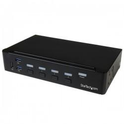 StarTech.com - Switch Conmutador KVM de 4 Puertos DisplayPort 4K con USB 3.0