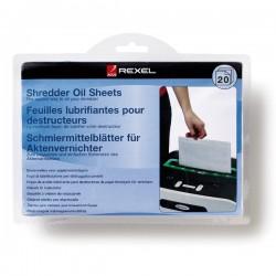 Rexel - Láminas lubricantes para destructora (20)