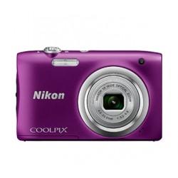 "Nikon - COOLPIX A100, Case, Selfie stick Cámara compacta 20.1MP 1/2.3"" CCD 5152 x 3864Pixeles Púrpura"