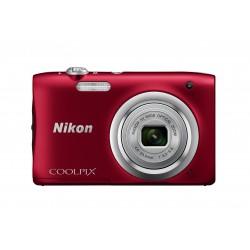 "Nikon - COOLPIX A100, Case, Selfie stick Cámara compacta 20,1 MP CCD 5152 x 3864 Pixeles 1/2.3"" Rojo"