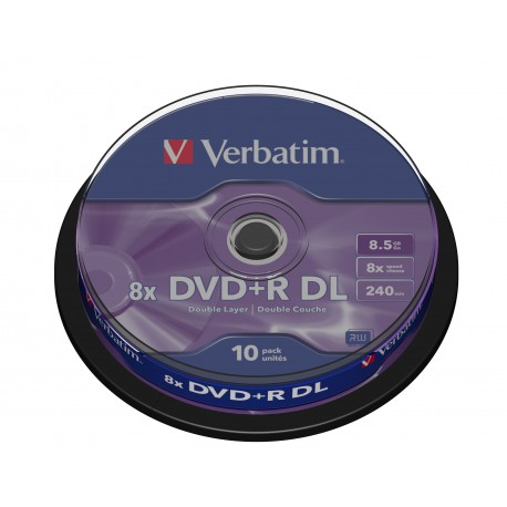 Verbatim - DVDR Double Layer Matt Silver 8x - 3917