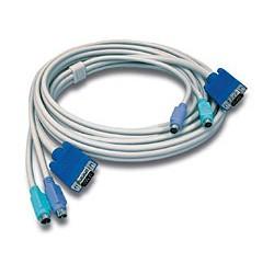 Trendnet - TK-C15 4.5m Gris cable para video, teclado y ratón (kvm)
