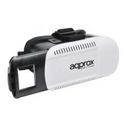 Approx - appVR01 Gafas de realidad virtual 360g Negro, Color blanco