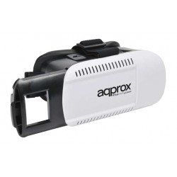 Approx - appVR01 Smartphone-based head mounted display 360g Negro, Color blanco