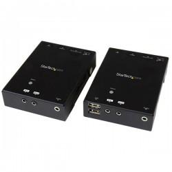 StarTech.com - Extensor HDMI por CAT5 HDBaseT con Concentrador USB e IR - Alargador 90m - Hasta 4K