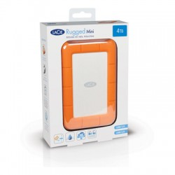 LaCie - Rugged Mini, 2TB disco duro externo 2000 GB Aluminio, Naranja
