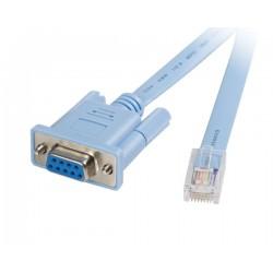 StarTech.com - Cable 1,8m para Gestión de Router Consola Cisco RJ45 a Serie DB9 - Rollover - Macho a Hembra