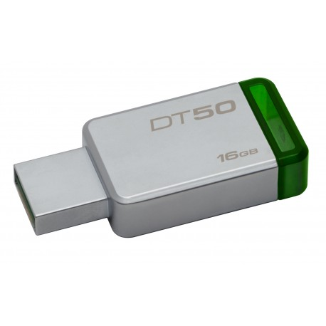 Kingston Technology - DataTraveler 50 16GB 16GB USB 30 31 Gen 1 Type-A Verde Plata unidad flash USB