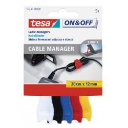 TESA - On & Off Negro, Azul, Rojo, Color blanco, Amarillo 5pieza(s) presilla