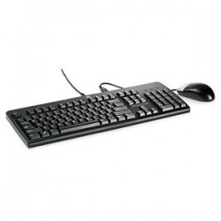 Hewlett Packard Enterprise - USB Keyboard and Mouse, PVC Free, Intl USB QWERTY Negro