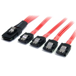 StarTech.com - Cable Adaptador de 50cm Mini SAS Serial Attached SCSI SFF 8087 mSAS iSAS Interno a 4x SATA Cierre La