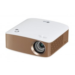 LG - PH150G videoproyector 130 lúmenes ANSI DLP 720p (1280x720) Proyector portátil Oro, Blanco