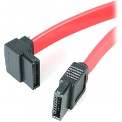 StarTech.com - Cable Datos SATA en Ángulo Recto Acodado 7 Pines - 2x Serial ATA Macho - 0,15m - SATA6LA1