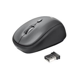 Trust - Yvi ratón Wi-Fi Óptico 1600 DPI Negro