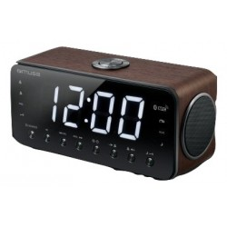 Muse - M-196DWT Reloj Digital Negro radio