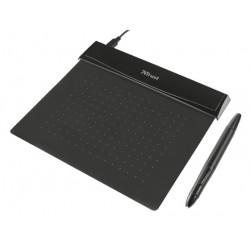 Trust - 21259 140 x 100mm USB Negro tableta digitalizadora