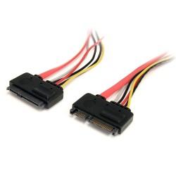 StarTech.com - Cable de Extensión SATA de 22 Pines - Serial ATA Macho - SATA Hembra - 0,3m