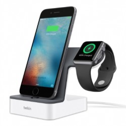 Belkin - PowerHouse Smartphone Gris, Color blanco estación dock para móvil
