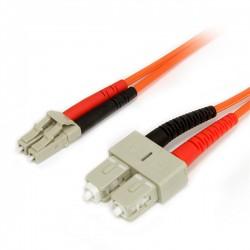 StarTech.com - Cable Adaptador de Red de 1m Multimodo Dúplex Fibra Óptica LC-SC 62,5/125 - Patch Duplex
