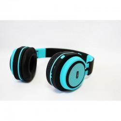 CoolBox - CoolHead Diadema Binaural Alámbrico Azul auriculares para móvil