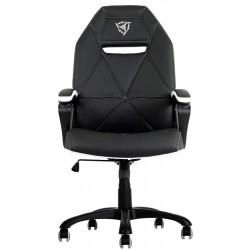 ThunderX3 - TGC10BW Asiento acolchado Respaldo acolchado silla de oficina y de ordenador