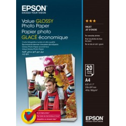 Epson - Value Glossy Photo Paper - A4 - 20 Hojas