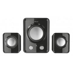 Trust - ZIVA COMPACT 2.1 Speaker set 12W Negro conjunto de altavoces