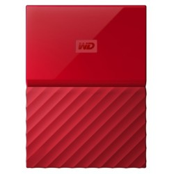 Western Digital - My Passport disco duro externo 1000 GB Rojo