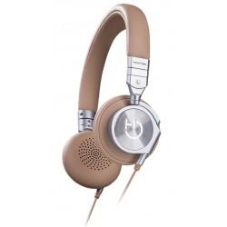 Hiditec - Aviator Diadema Binaural Alámbrico Beige auriculares para móvil