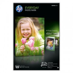 HP - Papel fotográfico brillante Everyday - 100 hojas/10 x 15 cm