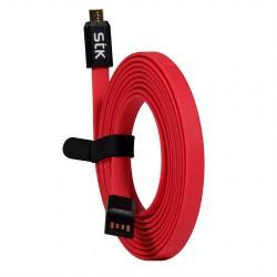 STK - DLCFLMICRORD/PP5 2m Micro USB USB Rojo cable de teléfono móvil
