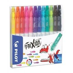 Pilot - FriXion Colourng Medio Negro, Azul, Marrón, Verde, Azul claro, Naranja, Rosa, Rojo, Turquesa, Violeta, Amar