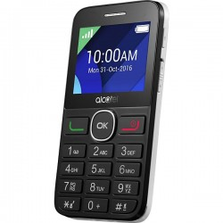 """Alcatel - 20.08G 2.4"""" 90g Negro, Color blanco Teléfono básico"""