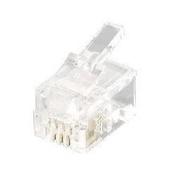 Equip - 121111 conector RJ-11 (4P4C) Transparente