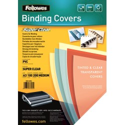 Fellowes - 53764 cubierta A3 PVC Transparente 100 pieza(s)