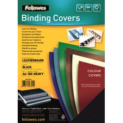 Fellowes - Delta A4 Papel Negro 100pieza(s) cubierta
