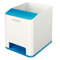 Leitz - WOW Poliestireno Azul, Metálico porta lápices