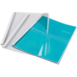 Fellowes - 53154 cubierta A4 De plástico Transparente, Blanco 100 pieza(s)