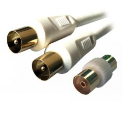 MCL - MC782HQ-1M 1m 9.5mm PAL 9.5mm PAL Blanco cable coaxial