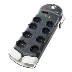 APC - Performance SurgeArrest 8 Outlets w/ Phone / Coax Protection 230V Germany limitador de tensión 8 salidas AC 2,44 m Negro
