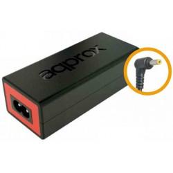 Approx - appA05 adaptador e inversor de corriente Interior 65 W Negro, Rojo