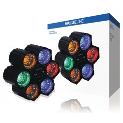 Valueline - VLLINKLED20 Interior Apto para uso en interior Surfaced lighting spot 6W Azul, Verde, Naranja, Rojo pun