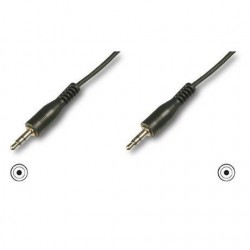 Nilox - MGLP9354 1.5m 3.5mm 3.5mm Negro cable de audio