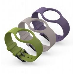 Geeksme - 3-BAND BOX Verde, Púrpura, Blanco Correa de reloj accesorio para relojes deportivos