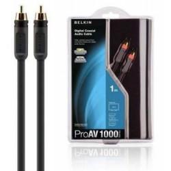 Belkin - AV10010QP2M 2m RCA RCA Negro cable coaxial