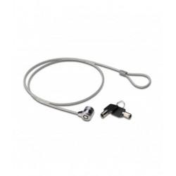 Ewent - EW1242 cable antirrobo Negro, Acero inoxidable 1,5 m